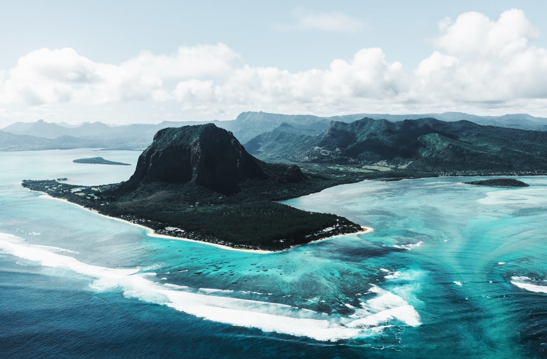 This is a picture of Le Morne Brabant Mountain.