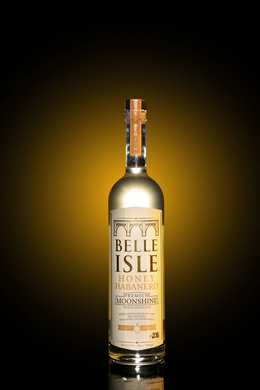 the big one bottle on brown surface