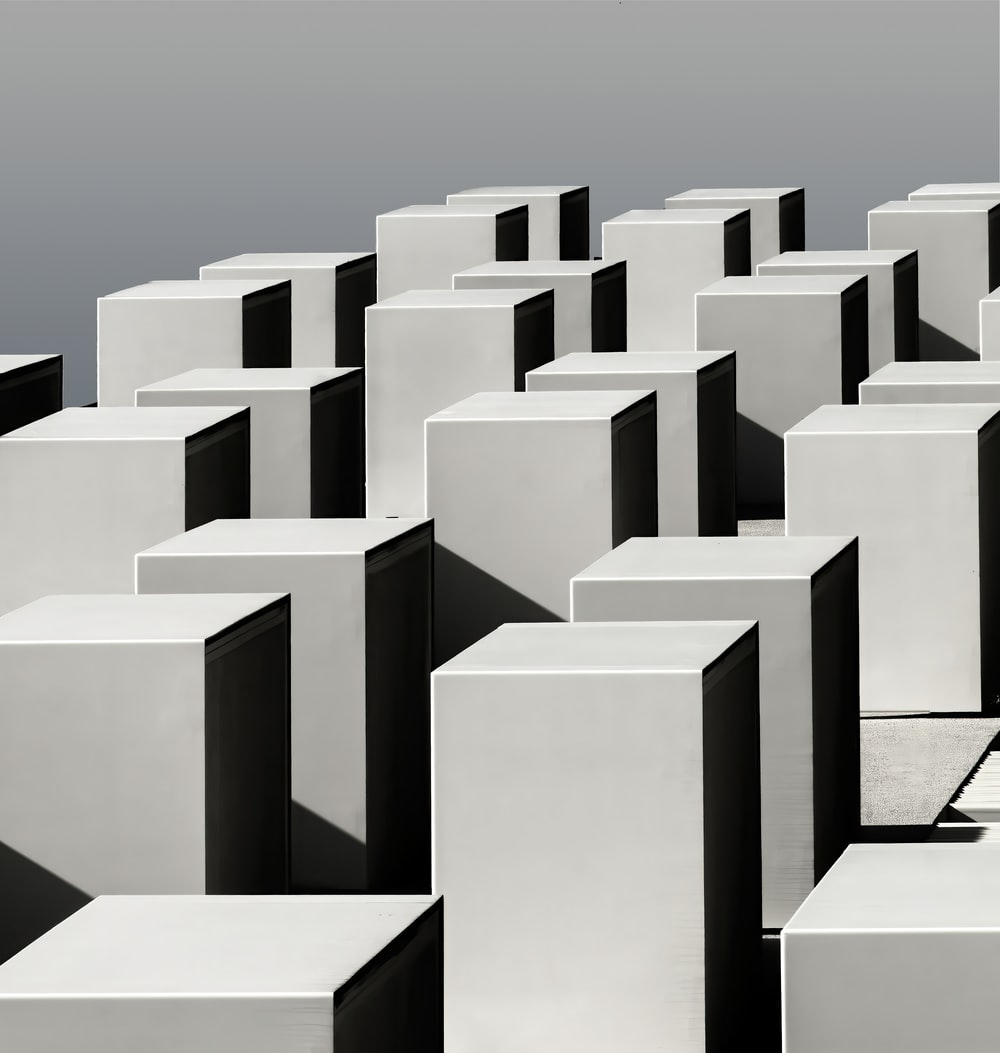 white concrete blocks under blue sky