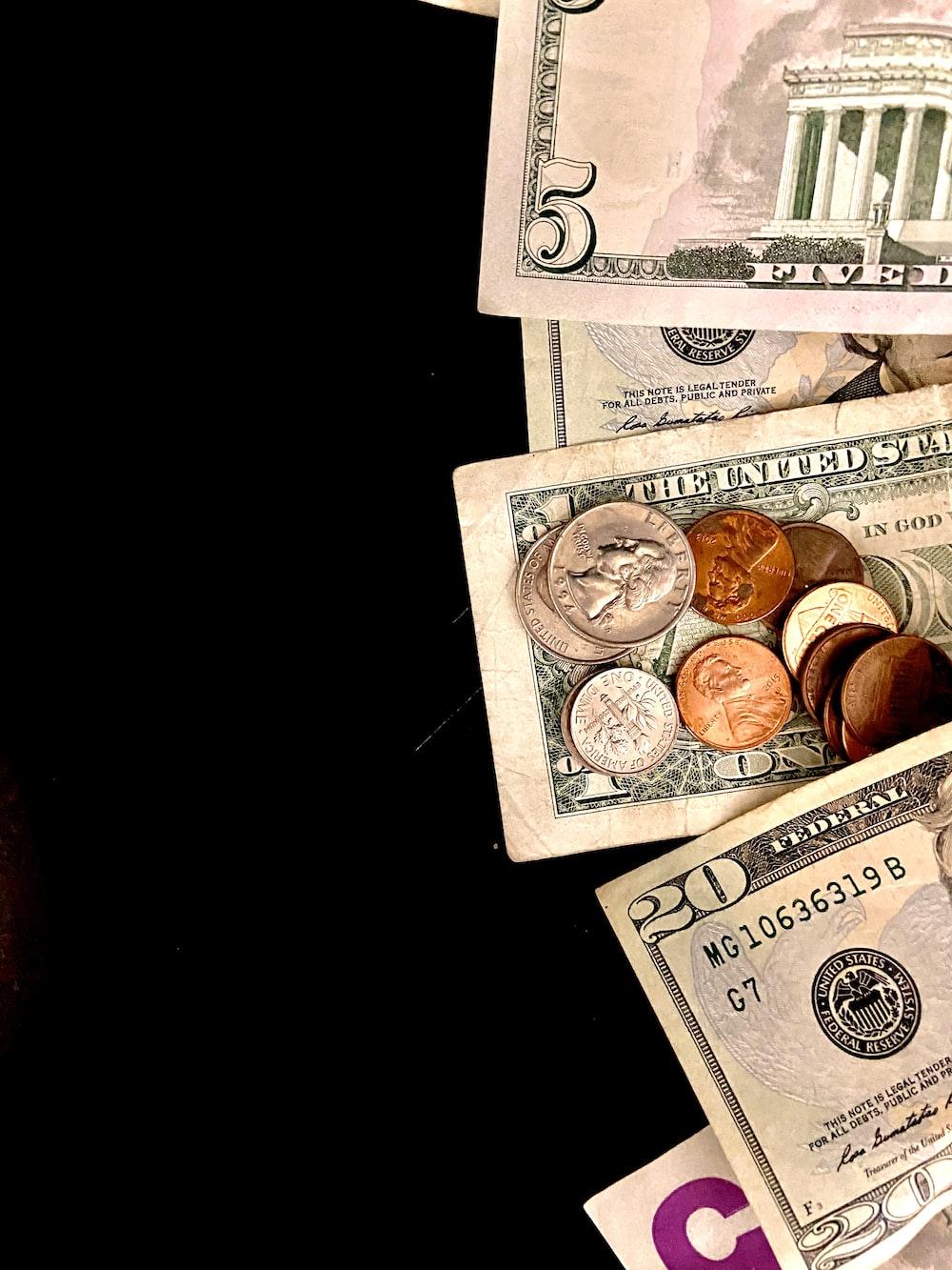 10 and 20 us dollar bill