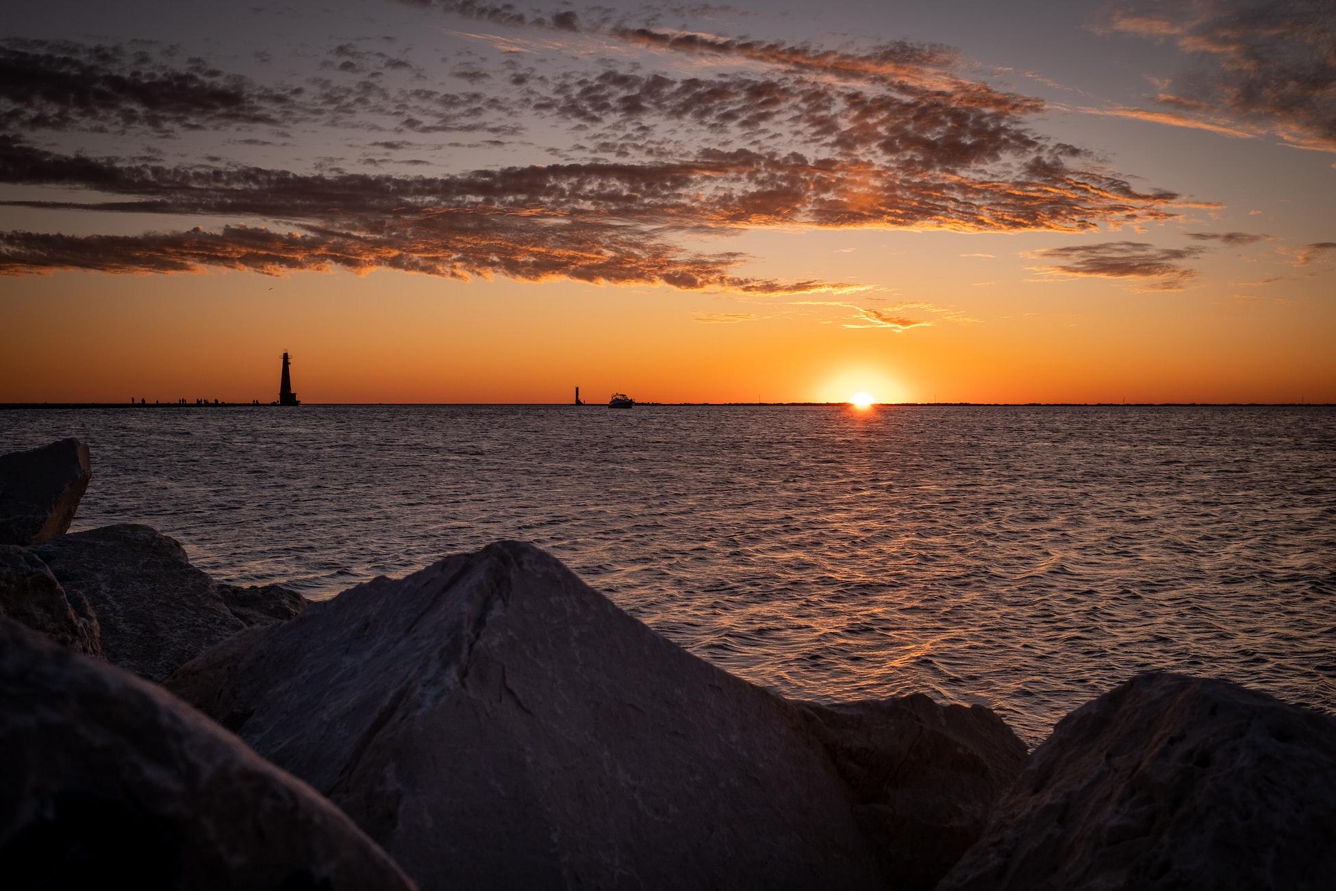 sunset in Holland, MI