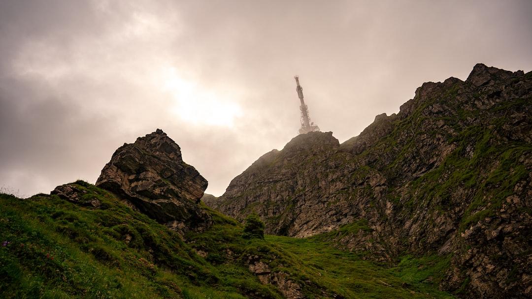 The transmitter on top of the Kitzbüheler Horn in Tyrol, Austria.