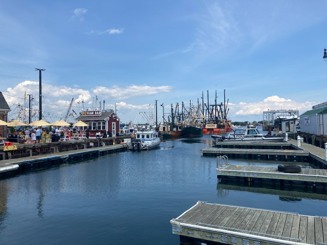 Pier 3 in the historic New England town of New Bedford, Massachusetts