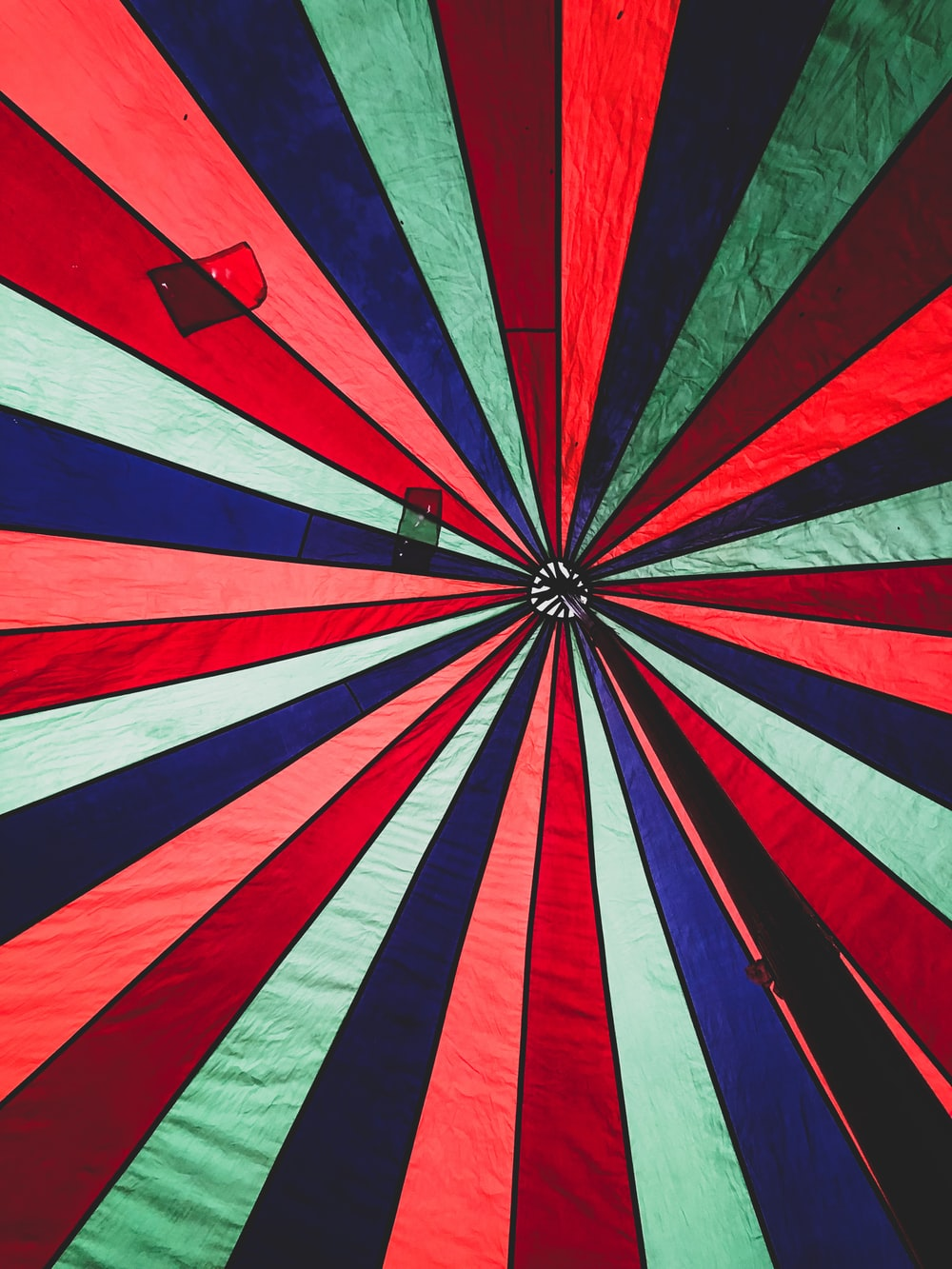red white and blue striped umbrella