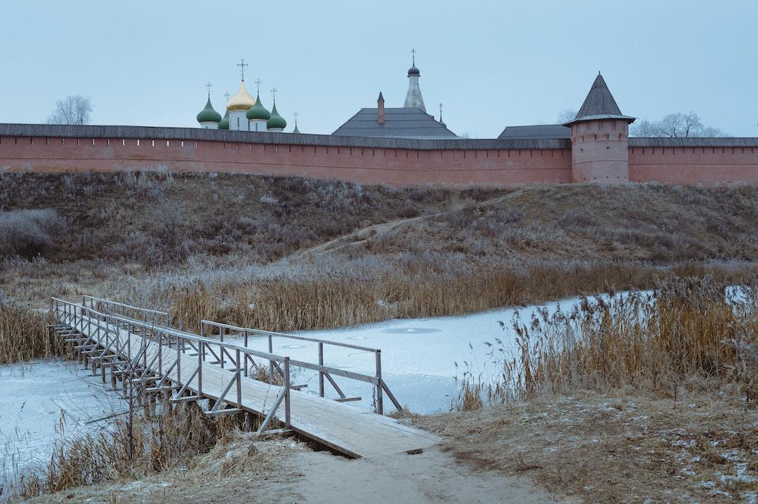 Winter landscape in Suzdal.