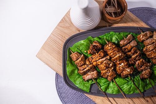 cooking kebab