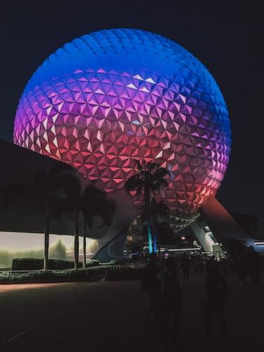 Epcot Center at night