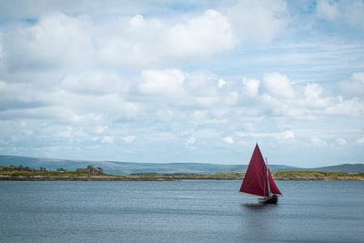sailboat on sea under white clouds during daytime celtic zoom background
