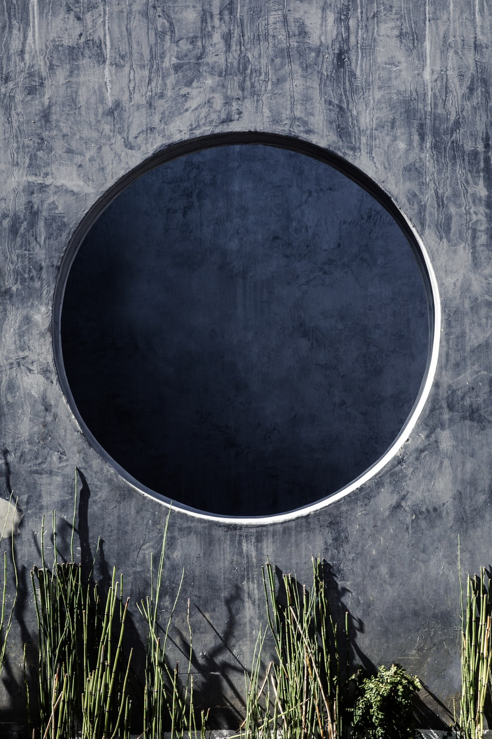 round black and white wall decor