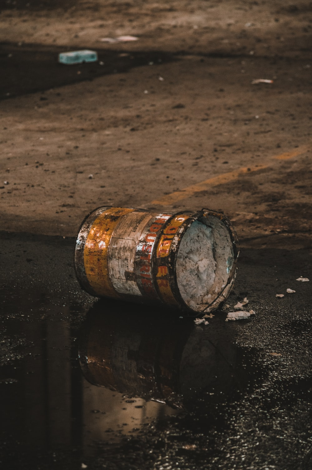 brown and white wooden barrel