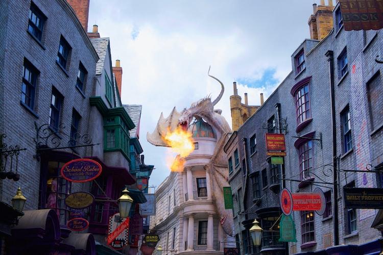 Dragon at Harry Potter World at Universal Orlando