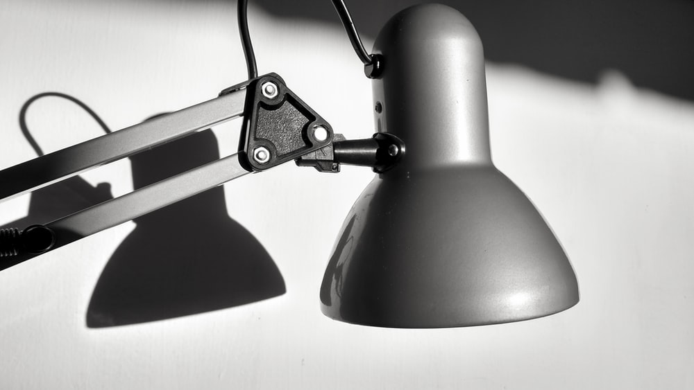 black and silver steel pendant lamp