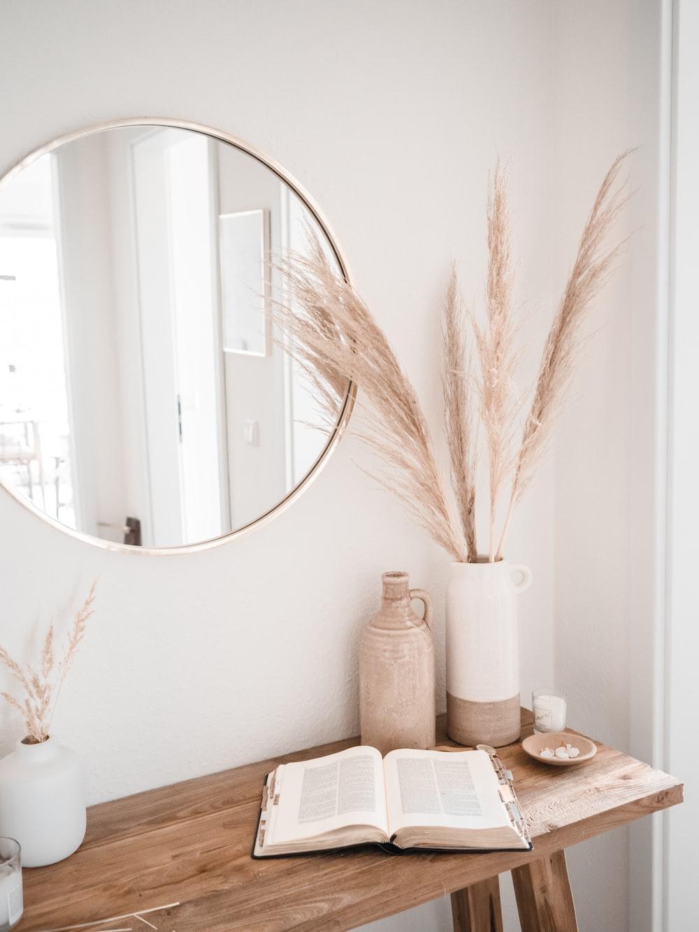 white ceramic sink with mirror