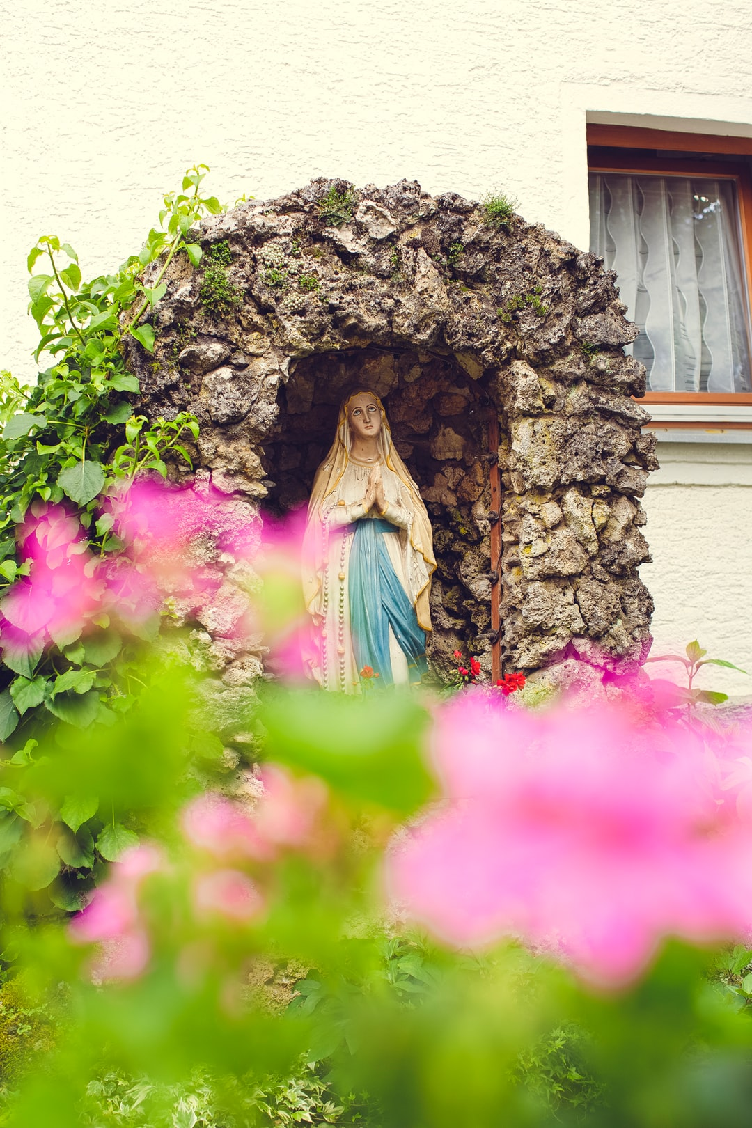 Catholic religious symbol: Maria - mother of god