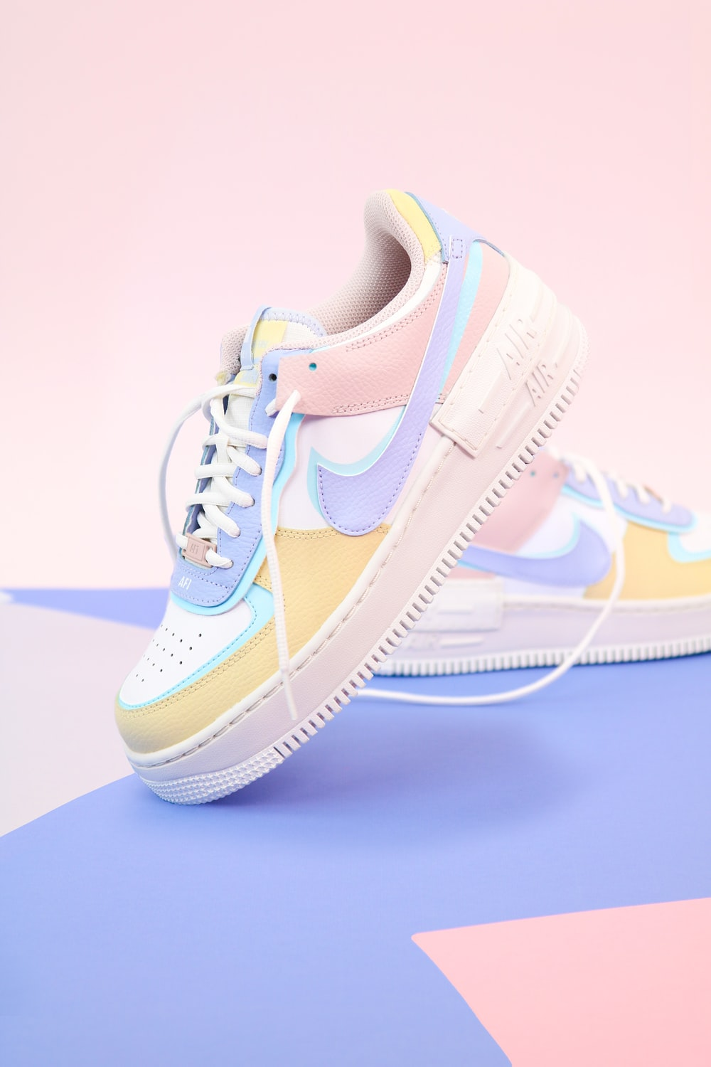 white and blue nike air force 1 high