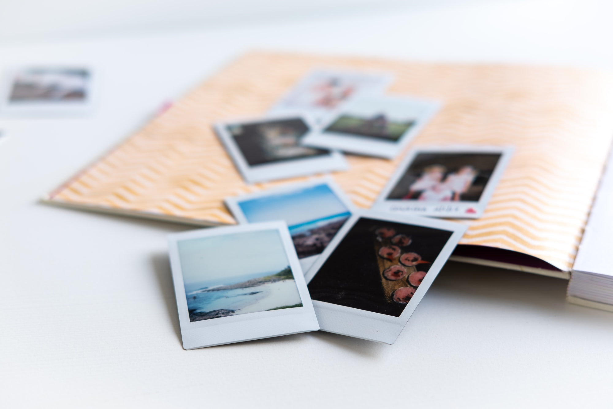 Creating a little book full of happy memories... and polaroids.
