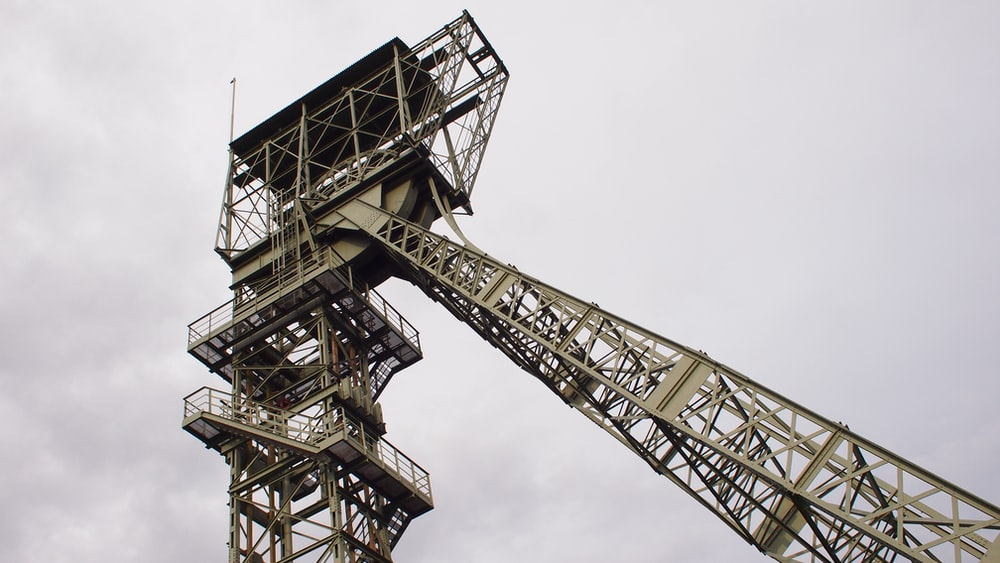 black and white metal tower