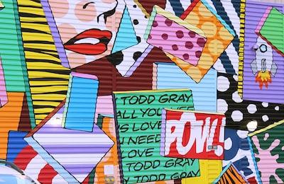 happy birthday to you wall art pop art teams background