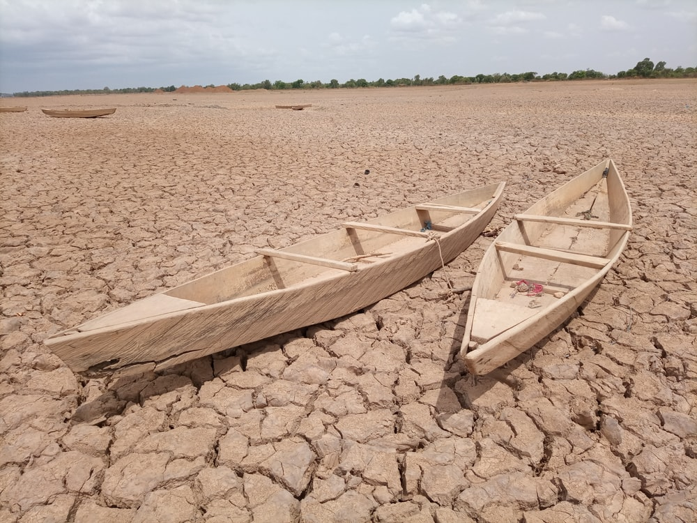 brown wooden boat on brown sand during daytime