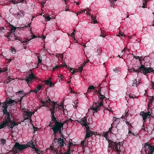 frozen raspberries.