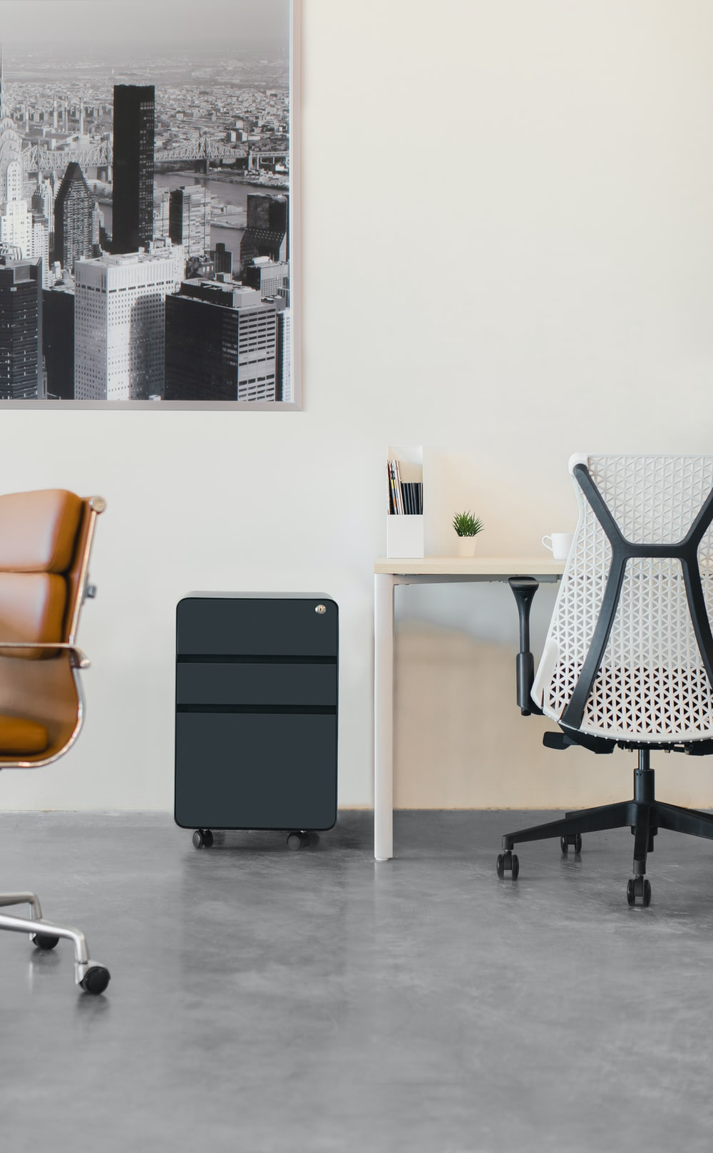 black and white polka dot chair