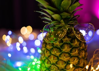 pineapple fruit in clear glass bowl