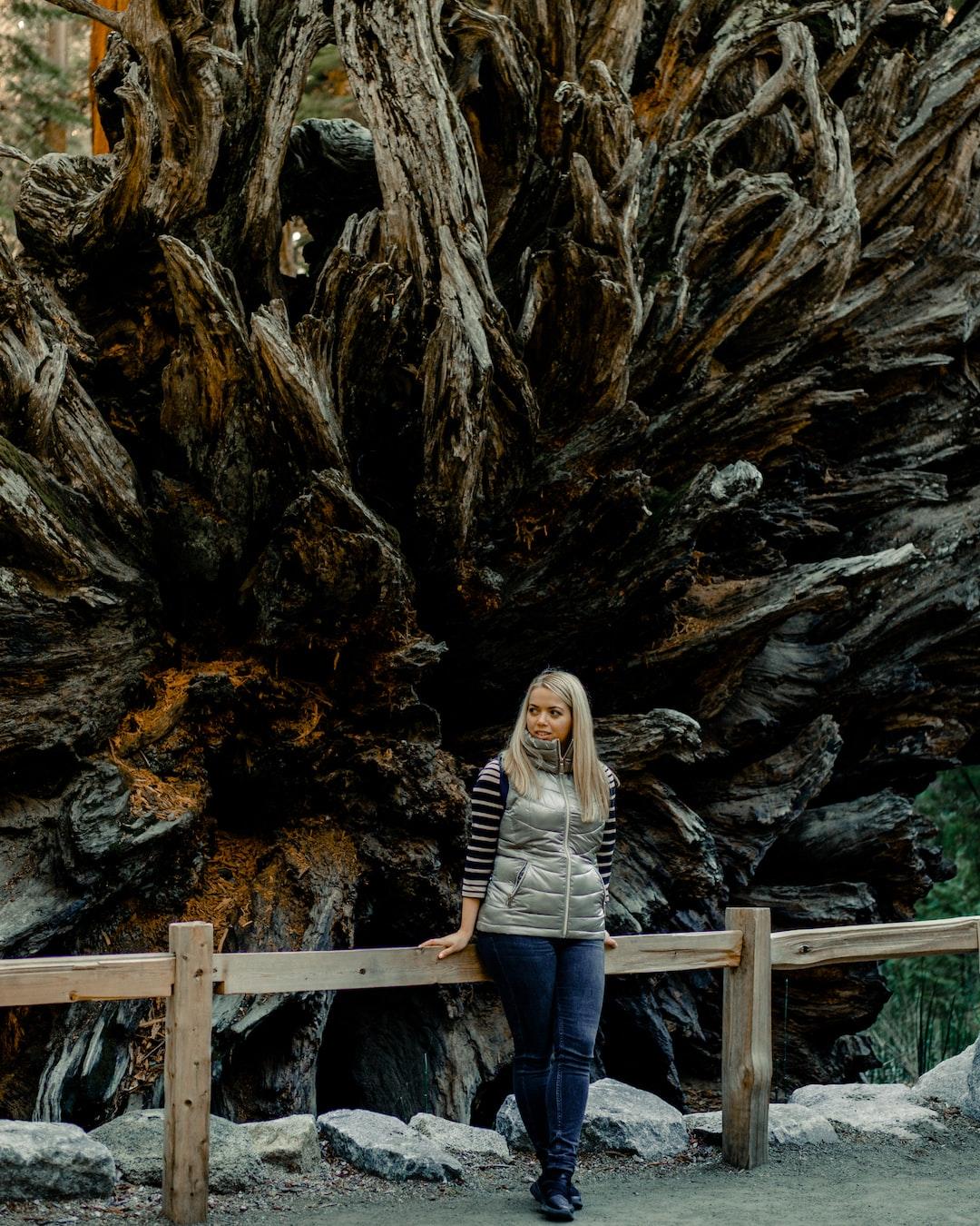 Posing next to a natural wonder