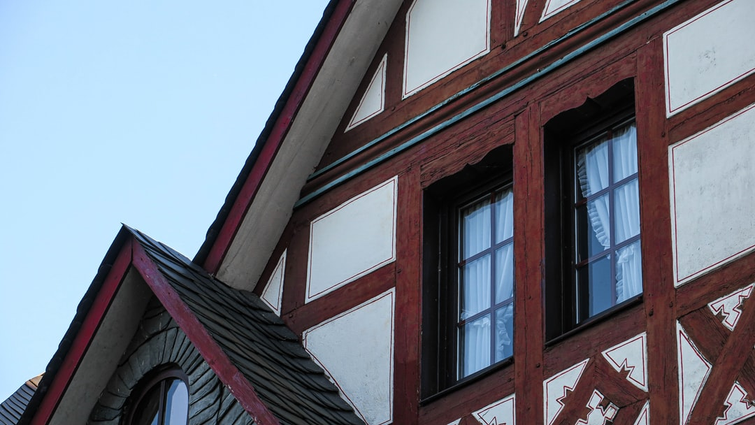 the architecture of a German building in the moezel region
