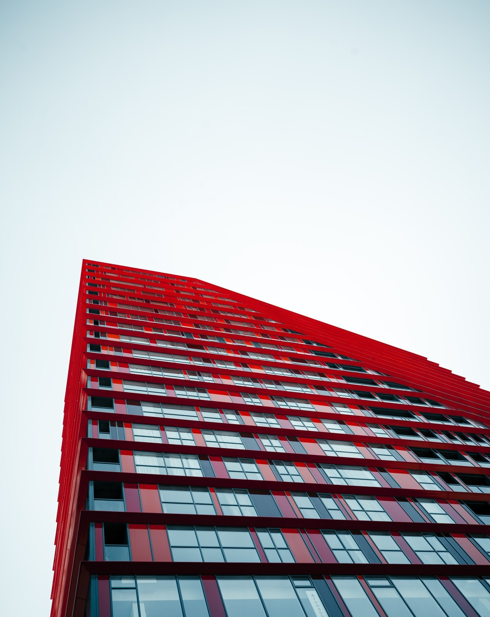 red and black high rise building