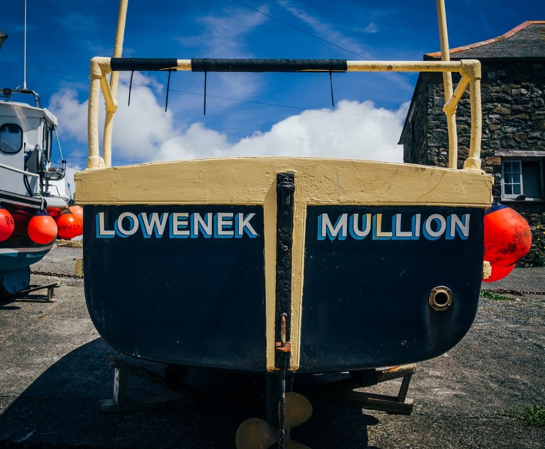 Boat in harbour at Mullion.