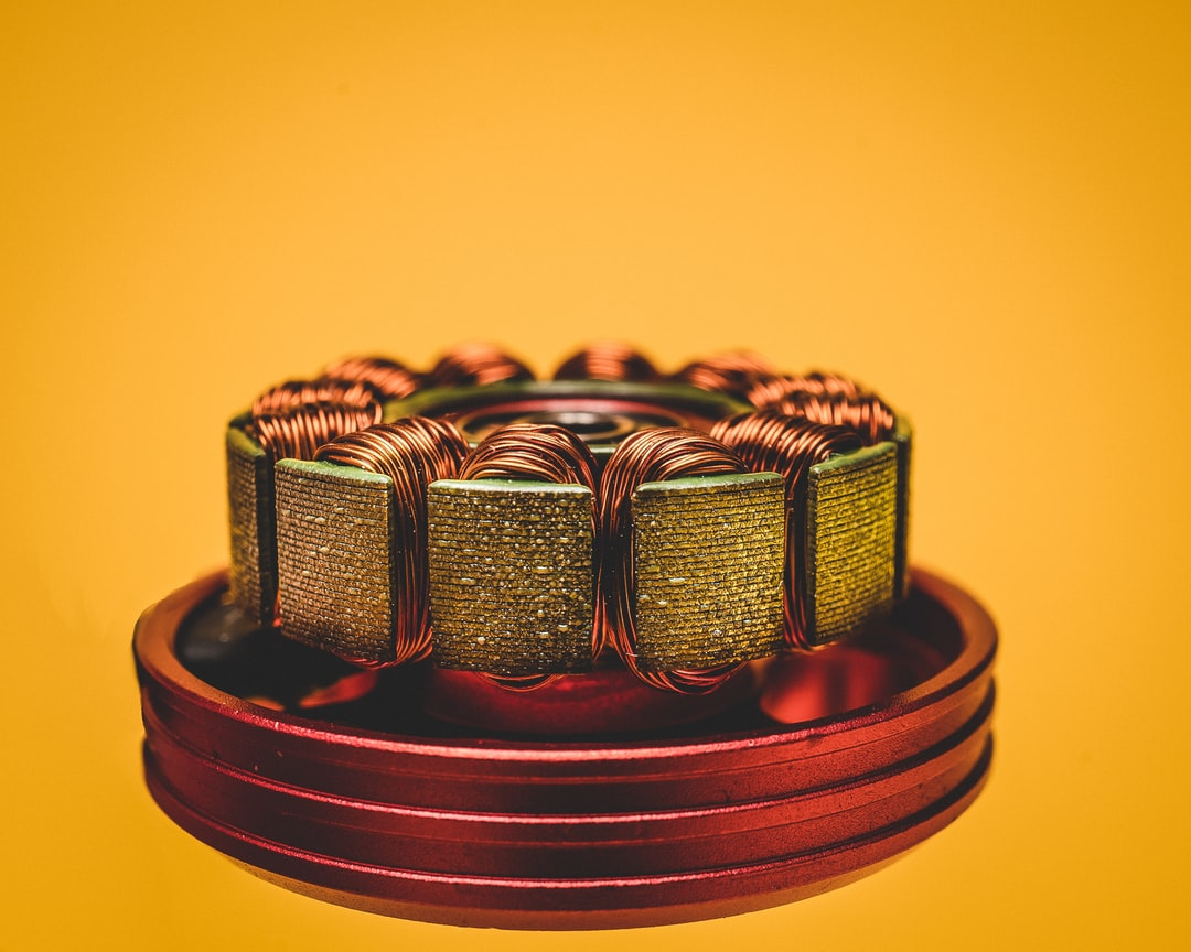 An electric motor with all it's copper windings!