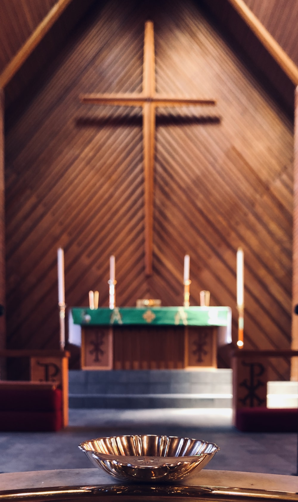 brown wooden church with cross
