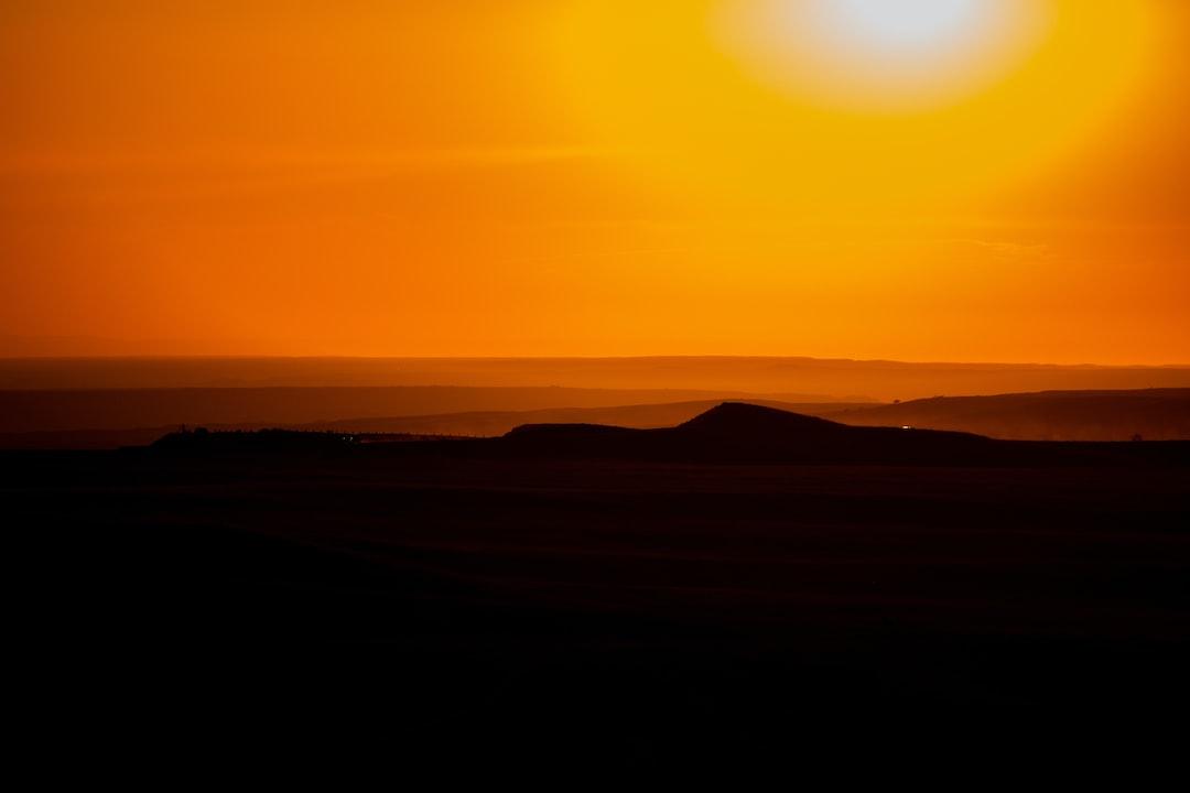 Bandlands at Sun Set