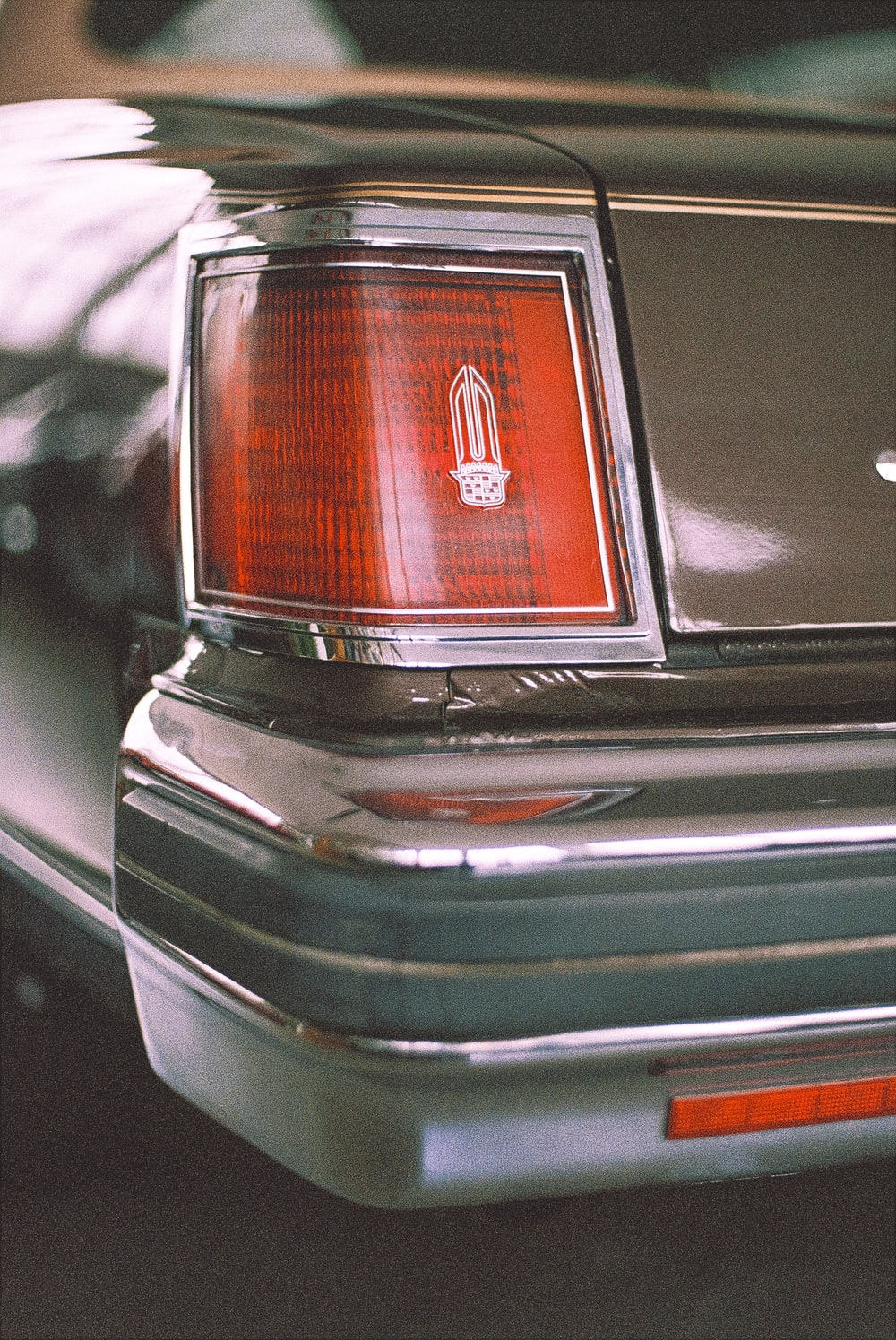 black and silver car tail light