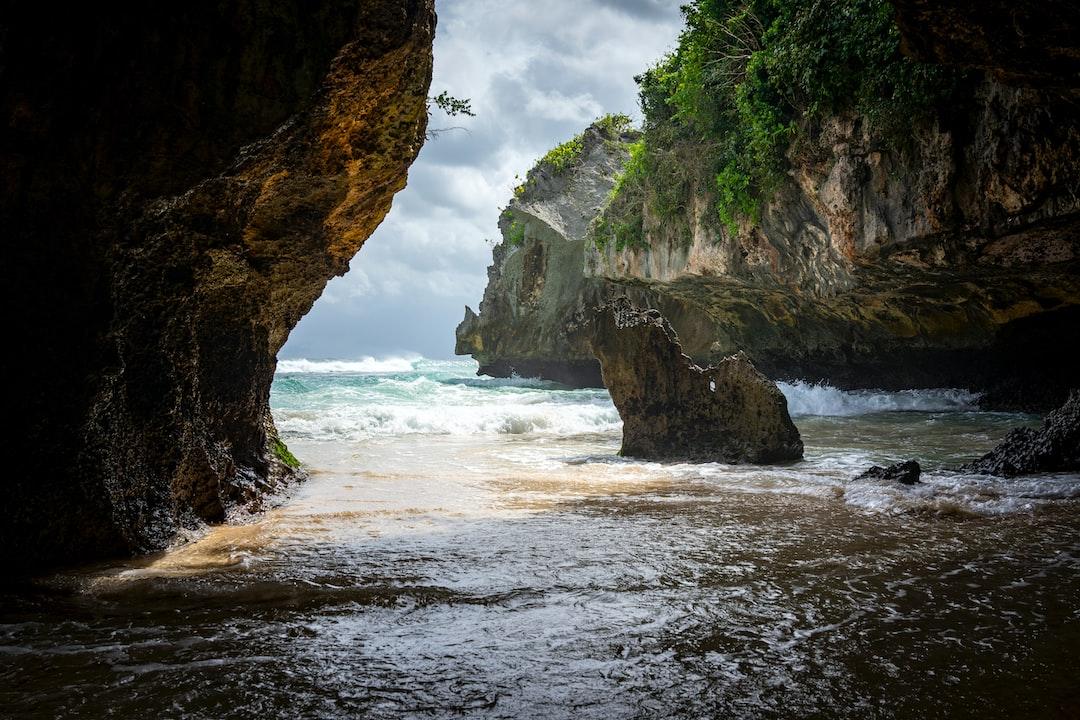 Uluwatu beach, hidden surfing spot, just opened after the Covid lock down