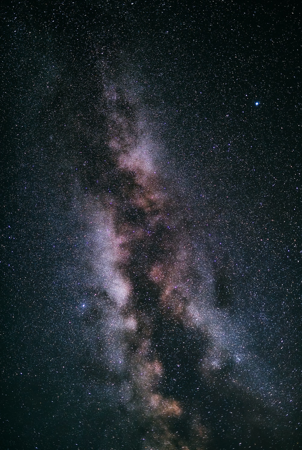 brown and black galaxy with stars