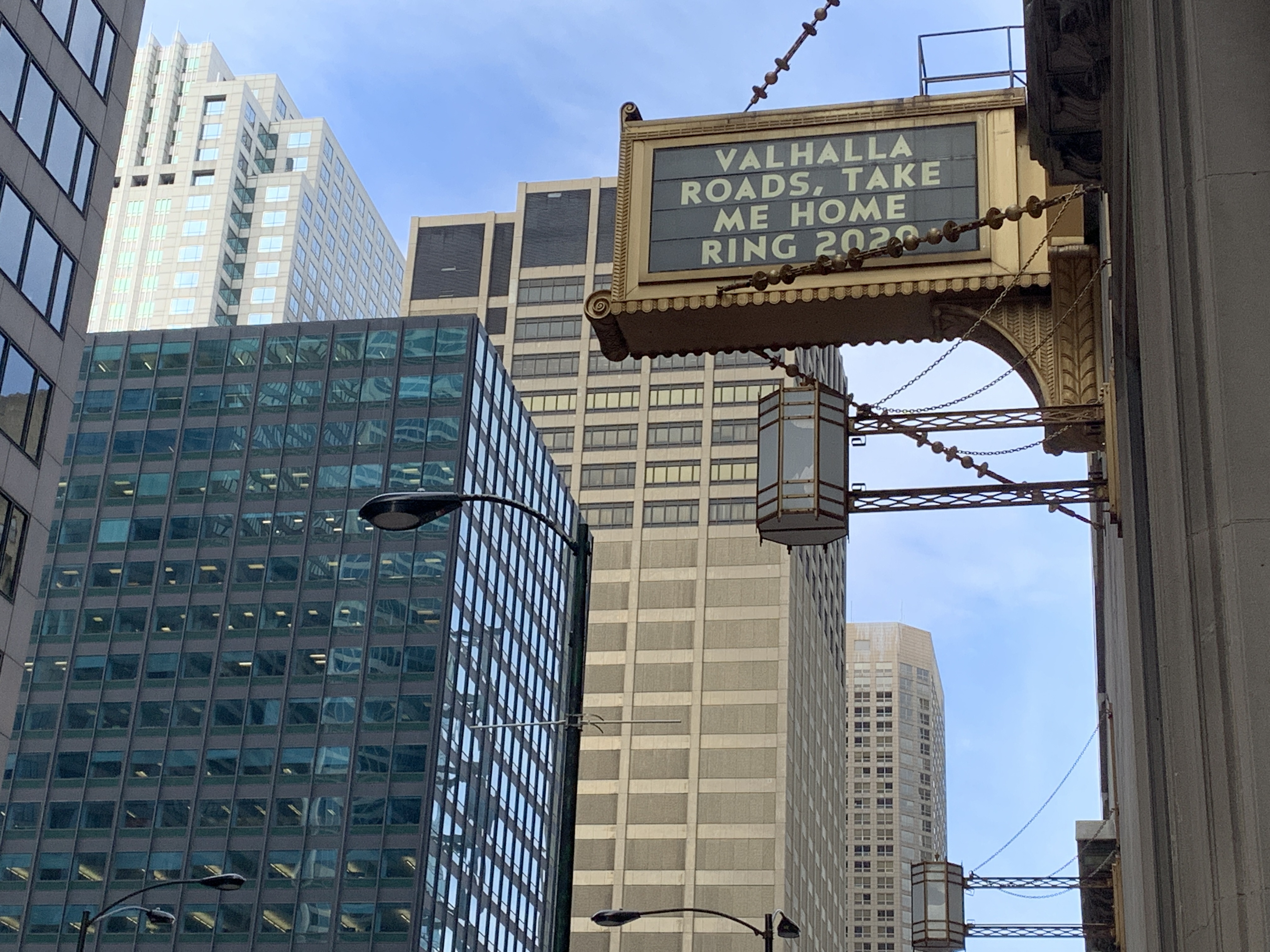 Lyric Opera Sign for The Ring (cancelled)