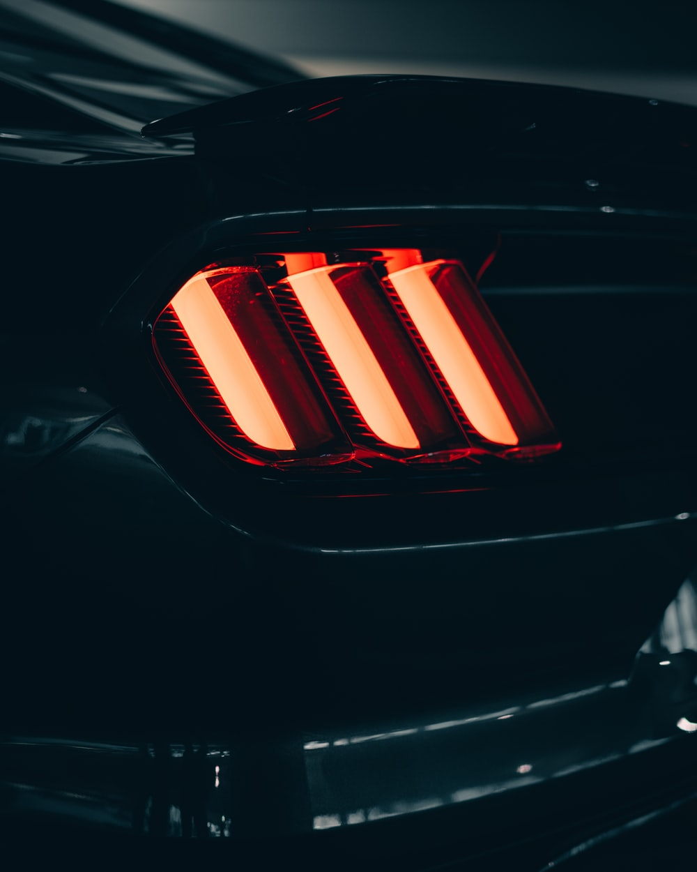 black and red car tail light
