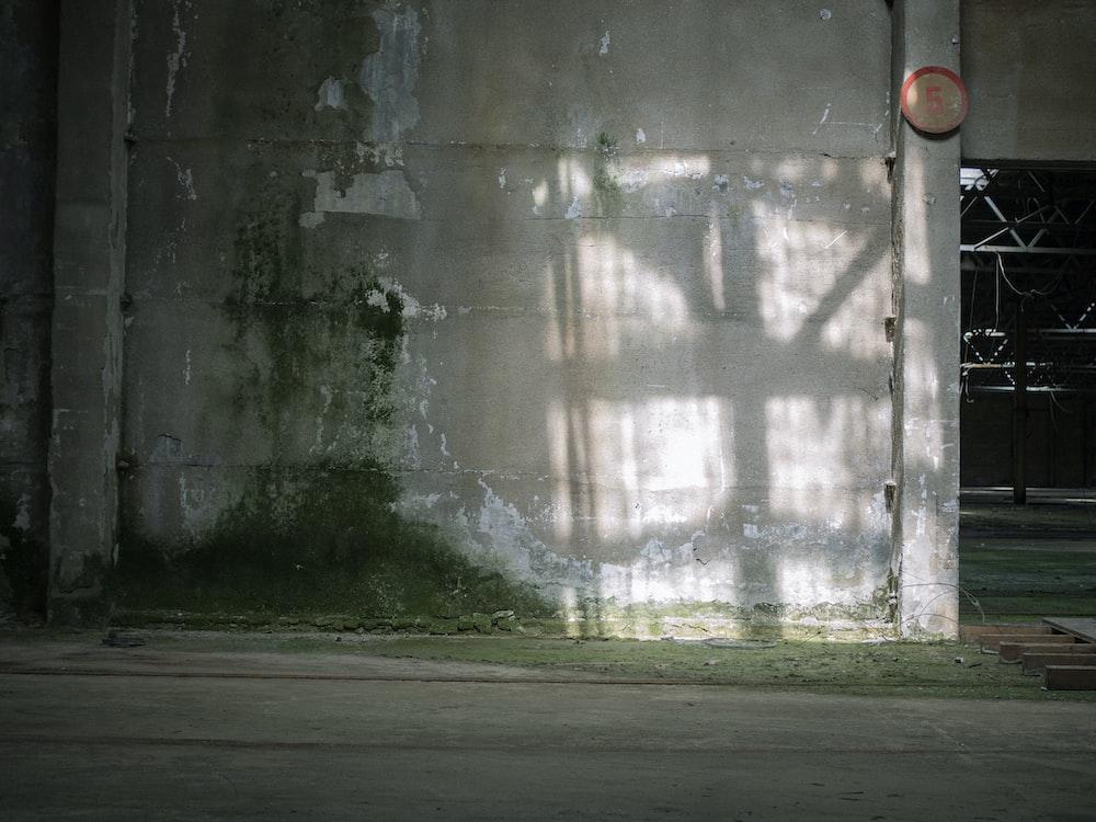 white and black concrete wall