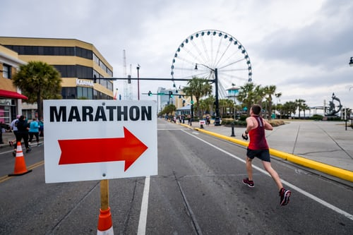 Marathons can motivate each other