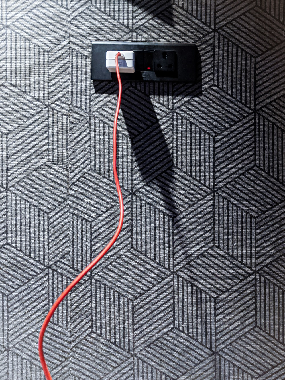 black and red usb cable
