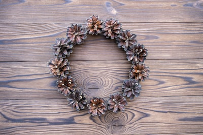 brown and black round beaded necklace