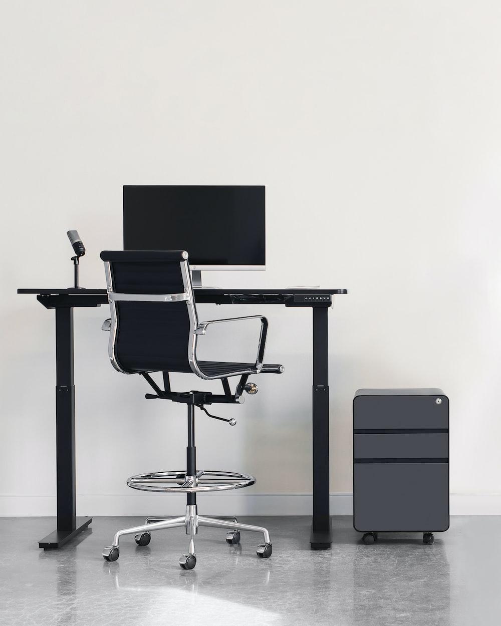 black and silver bar stools