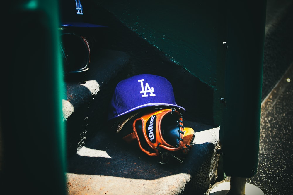 man in blue and orange helmet and goggles