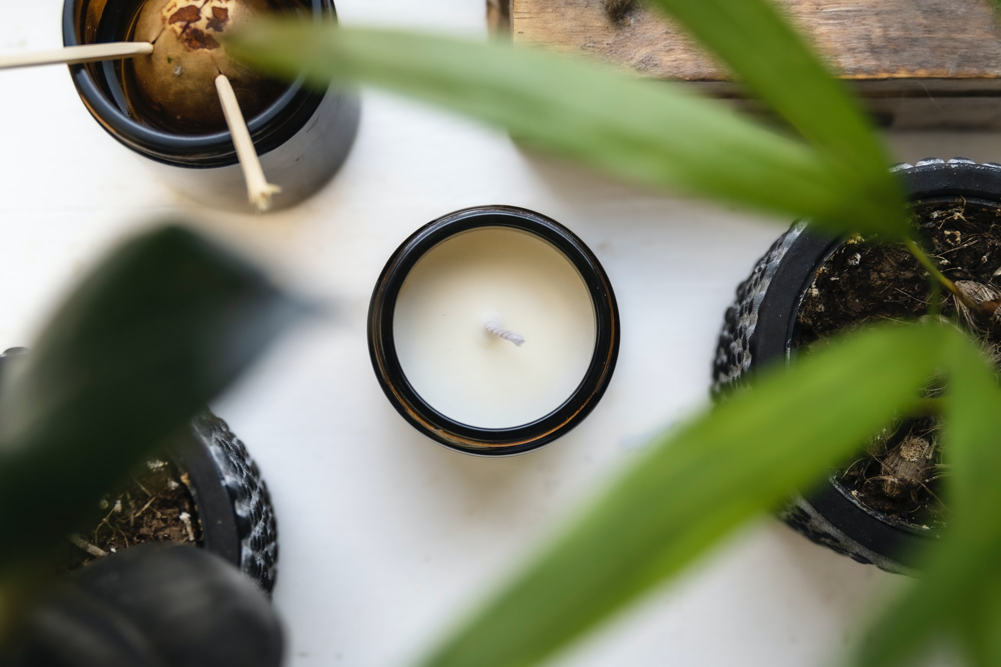 Aromatherapy Candle by Poured By Fi Top Down - Poured for Calmness