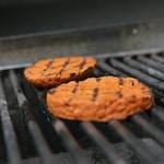 brown cookies on black steel grill