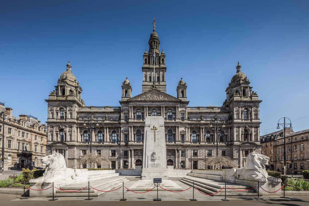 Here is a photograph taken from outside Glasgow City Chambers.  Located in Glasgow, Scotland.  Website : www.michaeldbeckwith.com   Email : michael@michaeldbeckwith.com