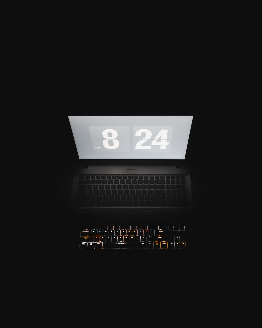 black laptop computer with number 2