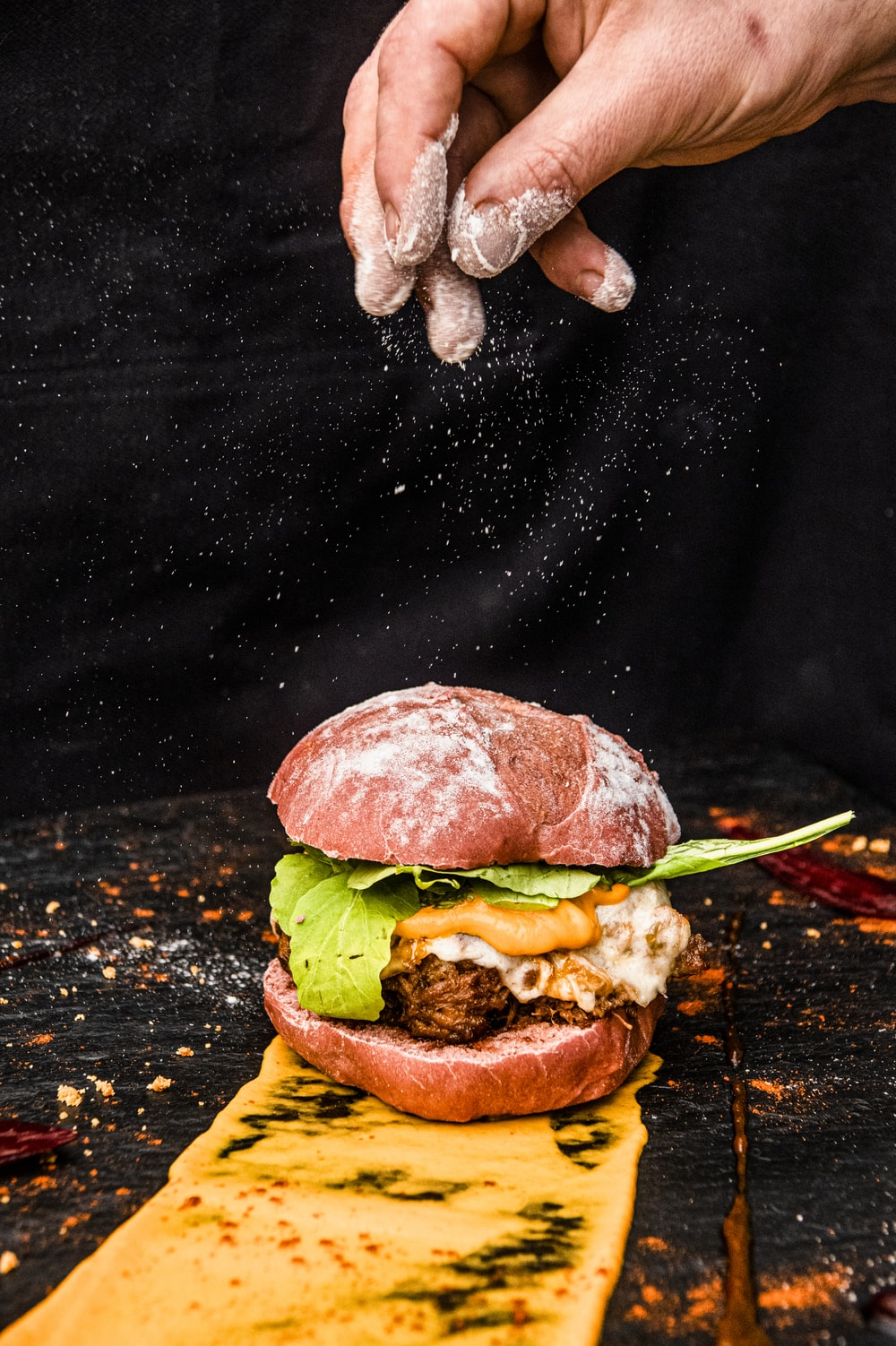 burger with lettuce and lettuce