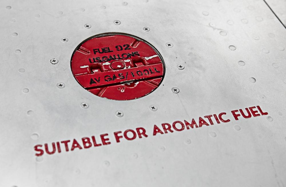 red and white round logo